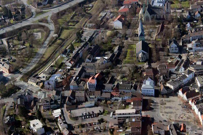 Foto: Kamenener Innenstadt aus der Vogelperpektive (C) KamenWeb.de