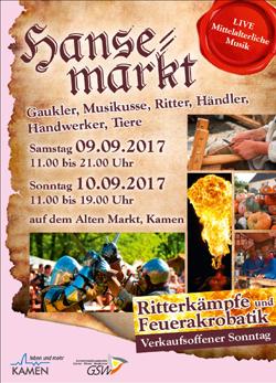 Hansemarkt Kamen - verkaufsoffener Sonntag