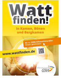 Watt finden! Anzeige: GSW