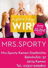 Anzeige Mrs. Sporty