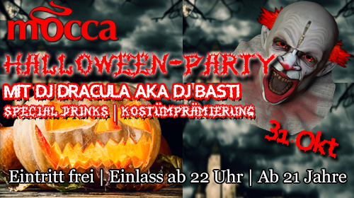 Anzeige: Mocca Kamen Halloween Party