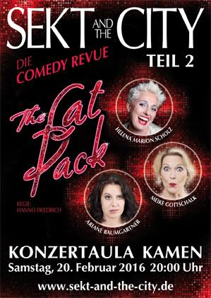 "SEKT & THE CITY Teil 2 ""The Rat Pack"" geht in 2016 wieder an den Start in der Kamener Konzertaula."