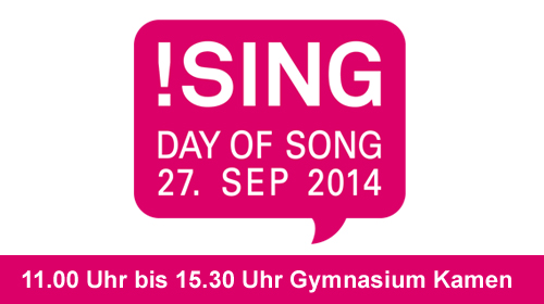 Anzeige: Sing! Day of Song 27.09.2014